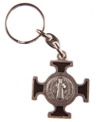 Schluesselhaenger Kelten silbrig Heilig BeneNickelierte silbrige Schluesselanhaenger aus Metall mit Kelten-Kreuz und Medaille
