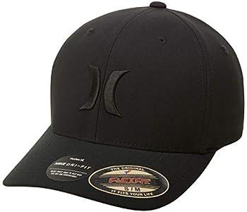 Hurley Men s Dri-Fit One & Only Flexfit Baseball Cap Black/Black L-XL