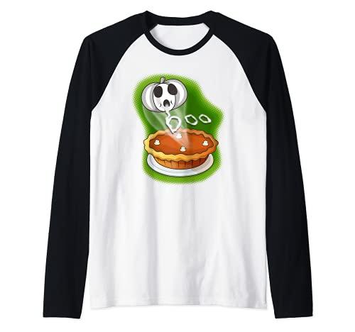 Divertido disfraz divertido de Halloween de la tarta de calabaza para los panaderos Camiseta Manga Raglan