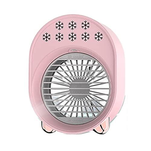 OMVOVSO Aire Acondicionado Personal Mini Refrigerador Aire Humidificador Purificador De Aire Velocidades Ajustables Luz LED Evaporando Enfriador para La Oficina De Dormitorio Purificador,Rosado