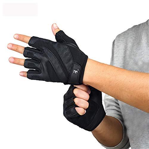 Turnhandschuhe Fitness-Handschuhe Unisex Trainingstreppentuch und Qualitäts-Lederhandschuhe tragen Anti-Rutsch-Gewicht Rally Gym Sport-Handschuhe für Klimmzüge, Cross Training, Fitness, WODs & Gew