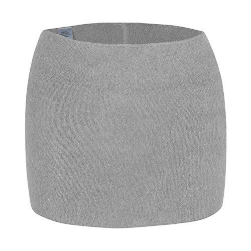 Angora wobera Nierenwärmer oder Leibwärmer, kräftige Ausführung (medium, Silbergrau)