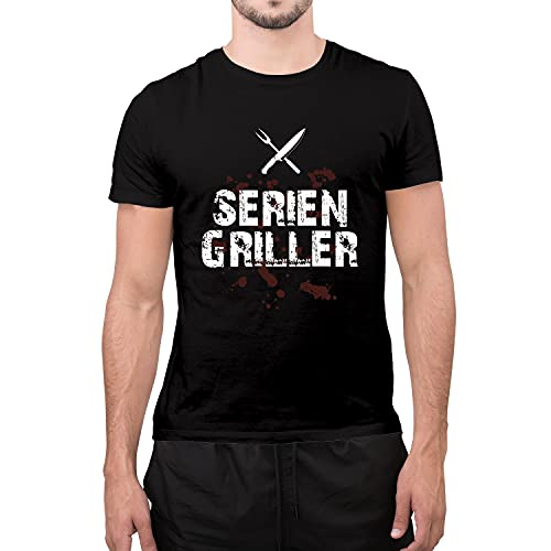 Shirt-Panda Herren Grill T-Shirt ·...