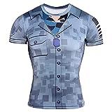 Camiseta Hombre Impresión 3D Patrón Creativa Cuello Redondo Hombres Manga Corta Verano Estiramiento Causal Hombres Streetwear Wicking Camisa Deportiva Transpirable Hombres TD67 4XL