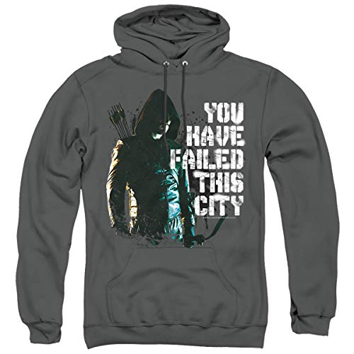 Arrow You Have Failed Unisex Adult Pull-Over Hoodie, Charcoal, Small