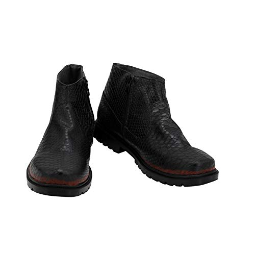 Bons présages Cosplay chaussures Aleister Crowley bottes Halloween carnaval Cosplay Prop 40