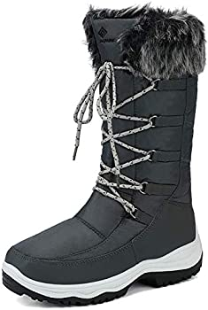 DREAM PAIRS Women s Maine Grey Knee High Winter Snow Boots Size 9 M US