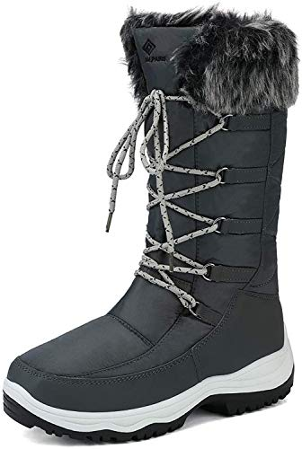 DREAM PAIRS Women#039s Maine Grey Knee High Winter Snow Boots Size 11 M US
