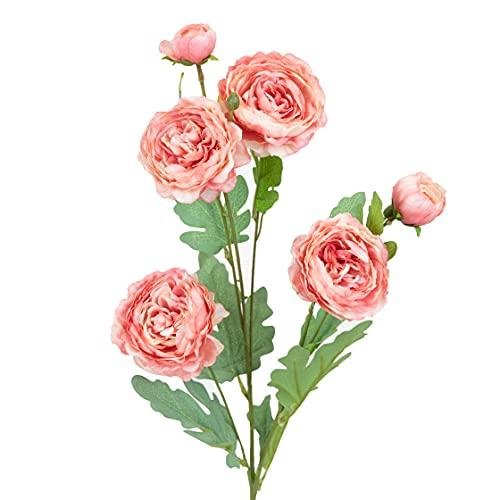 Season's Need Decor Silk Peony Artificial Flowers for Wedding DIY Centerpiece Floral Arrangement 31-inch Long Flower Stem, Pack of 3 Peony Fake Flower Bouquet – Beauty Silk Flower Arrangements