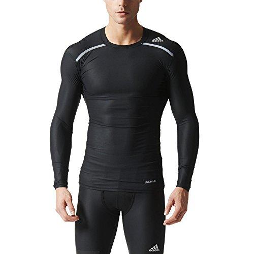 adidas Herren Kompressionsshirt Techfit Chill Longsleeve Langarmshirt, Black, 3XL