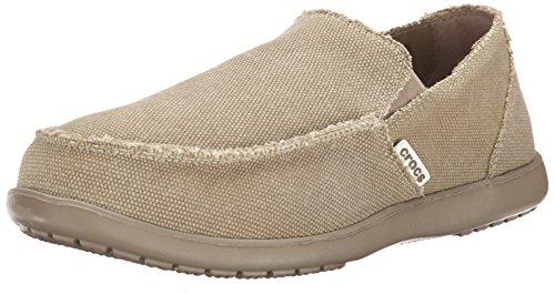 Crocs Men's Santa Cruz Slip-On Loafer,Khaki,11 (D)M US