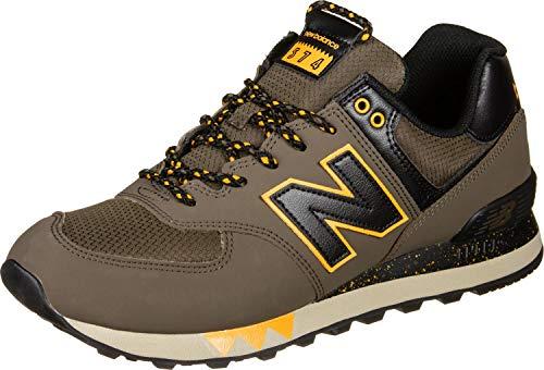 New Balance ML574NFM Herren Sneaker braun schwarz gelb (40 EU)