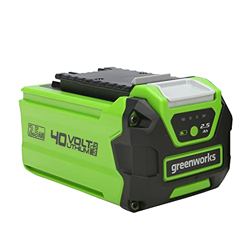 Greenworks Akku G40B25 (Li-Ion 40V 2.5 Ah wiederaufladbarer leistungsstarker Akku passend für alle Geräte der 40V Greenworks Tools Serie)