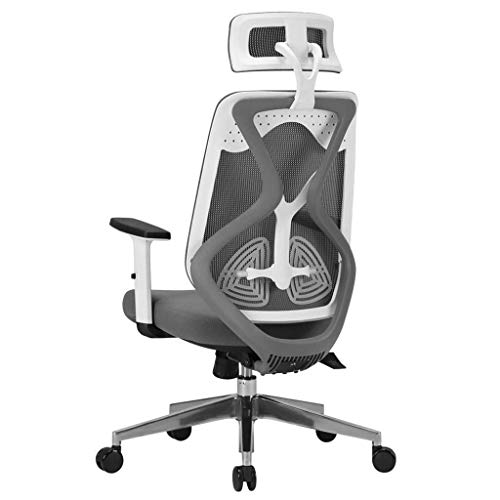Video Game Chair,Rotating Ergonomic Computer Chair,Home Gaming Chair Office Comfort Chair Ergonomic Boss Chair Adjustable Height Load Bearing 150Kg,Gray,70 47 114cmL with Backrest