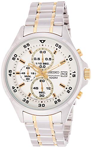 Seiko Heren Chronograaf Quartz Horloge met RVS Band SKS629P1