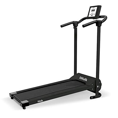 Mediashop iWalk Laufband inkl. Boardcomputer Hometrainer | Ganzkörpertraining | zusammenklappbar höhenverstellbar mit Rädern | schwarz