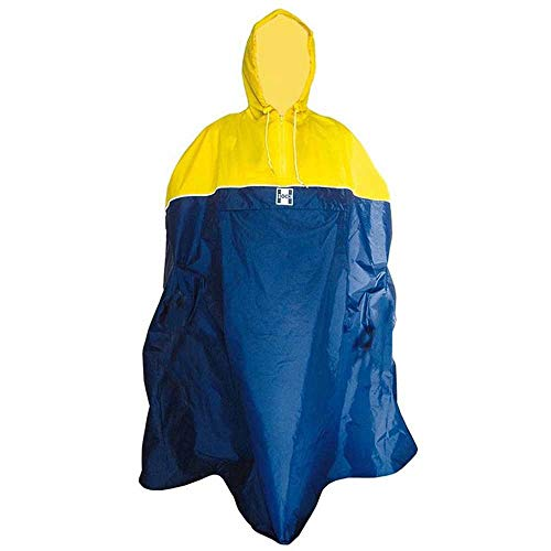 Hock Regenbekleidung Unisexe - Adulte Back-Pack Poncho de Pluie Bleu L