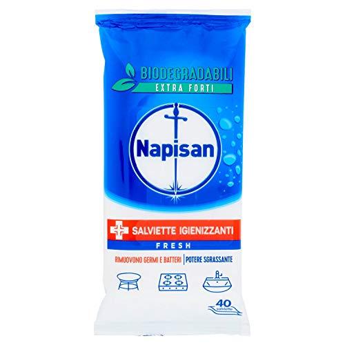 Napisan Salviette Igienizzanti, Multisuperfici e Biodegradabili, Fresh - 210 gr