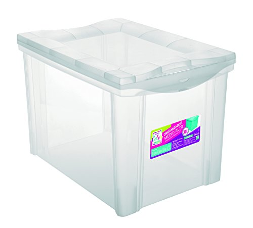 Organizador Plástico Colors Ordene Br Cristal Médio
