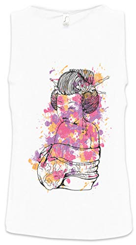 Urban Backwoods Geisha With Colored Ornaments Heren Tank Top Training Gym Shirt