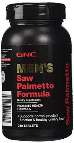 GNC Men's Saw Palmetto Formula, 240 Tablets, Supports Normal Prostate Function