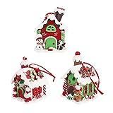 Toddmomy 3 Piezas de Adornos de Casa de Jengibre de Navidad Iluminación LED para Casas de Pueblo Resina Adornos Colgantes de Navidad para La Decoración del Árbol de Navidad