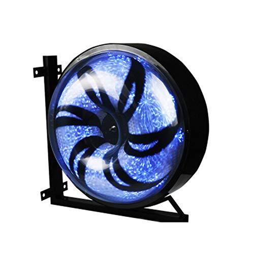 NGFDKC3 Salon De Beauté Turn Light Hair Salon Turn Light Barber Shop Turn Light Sign Light Mur Windmill LED Big Round Lumière À La Mode Rotation