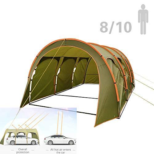 S SMAUTOP Tente Tunnel pour 8 à 10 Personnes, 3.1 * 4.5 * 2.05m, 2000mm 100% étanche Tente de...