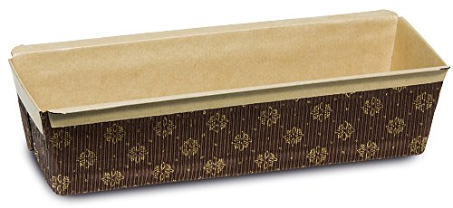 Guardini, Monouso, 3 moules à cake jetables, 23 x 7 cm, papier cuisson, Couleur beige