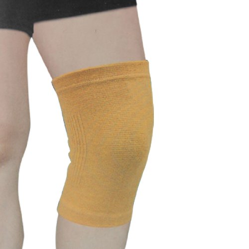 Sports Stretchy Light Brown Knee Support Protector Gear