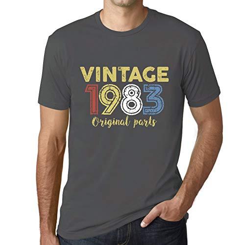 Ultrabasic - Hombre Camiseta Gráfico tee Shirt 1983 Cumpleaños de 38 años Original Parts Ratón Gris