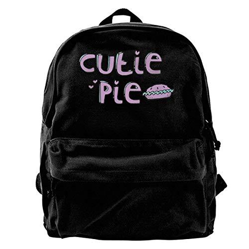 Cutie Pie Unisexe Toile Sac À Dos pour Hommes Femmes Léger Voyage Randonnée Sac Étudiant Bookbags Ordinateur Portable Sac À Dos