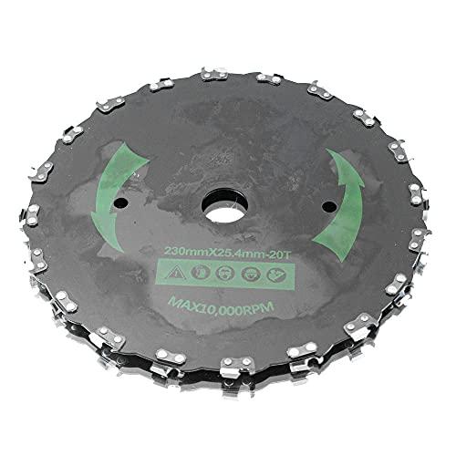 Bituxx Cabezal de corte de cadena para desbrozadora, 228 mm
