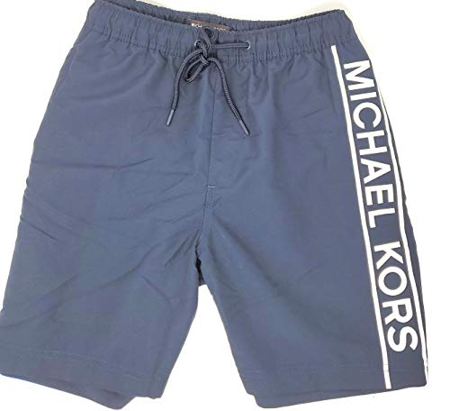 Michael Kors Men's Swim Shorts, Navy/White, Medium