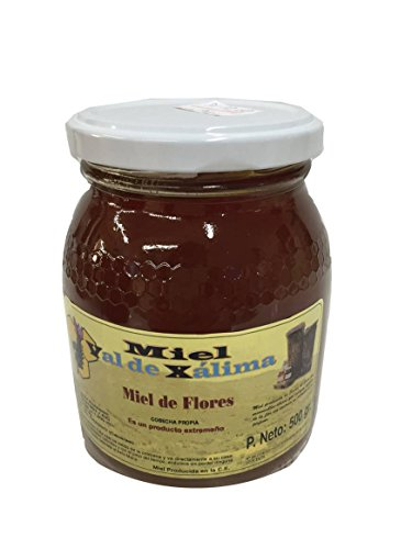 Miel de flores natural bote cristal 500 gr Val de Xalima