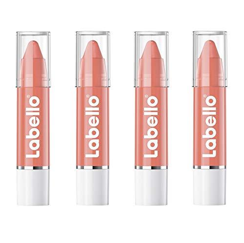Labello Crayon Balsamo Labbra Colorato Nude, 4 Lipstick, Matitone Labbra Colora e Idrata, Senza Oli Minerali e Parabeni