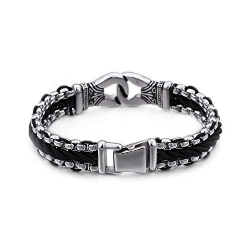 KnBoB Titanstahl Herren Herren Silber Kettenwebart Armband