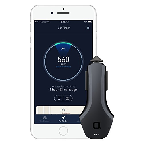 nonda ZUS Smart Car Charger, Car Charger with App to Save Car's Location and Monitor Car Battery, 2 Ports Car Charger with Led for iPhone XS/Max/XR/X/8/7/6/Plus