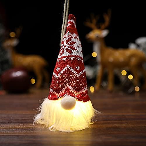 KOUQI Ancianos del Bosque con Colgante De Lámpara Sin Rostro Muñeca Luminoso Pequeño Colgante Diseño De Casa Adornos Colgantes Estilo D