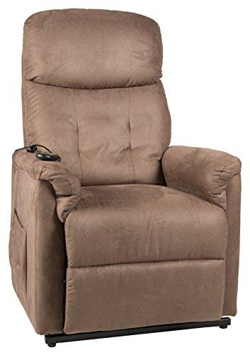 Duo Collection  Fernseh-TV-Sessel Vancouver, Aufstehhilfe, Motor, Liegefunktion, stufenlos elektrisch verstellbar, Fernbedienung, Stoff-Bezug Struktur-Mikrofaser, braun