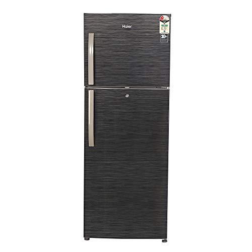 Haier 310 L 2 Star Frost-Free Double Door Refrigerator (HRF-3304BKS-E, Black Brushline)