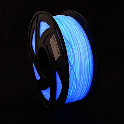 Creozone, filamento 3D Glow in the Dark, serie PLA ABS filamento in plastica per stampante 3D 15% polvere fluorescente 1,75 1 kg bobina