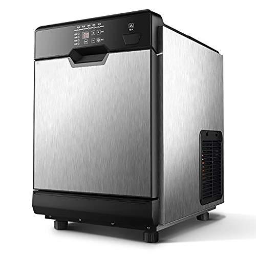XUMI Eiswürfelmaschine, 360° Blaulicht Bakteriostase Eismaschine Kommerzielle Eiswürfelmaschine Kleine Haushalts Quadrat Eiswürfelbereiter Automatische Eismaschine Maschine
