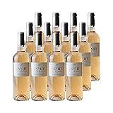 Coteaux d'Aix-en-Provence Cuvée Esprit de Granet Rosé 2019 - Les Vignerons de Granet - Vin AOC Rosé de Provence - Lot de 12x75cl - Cépages Grenache, Cinsault