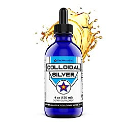 Colloidal Silver - Non-Ionic Silver - 4oz - Amber - 50ppm - Made from 99.99% Pure Silver - Natural Immune System Support for Adults and Kids
