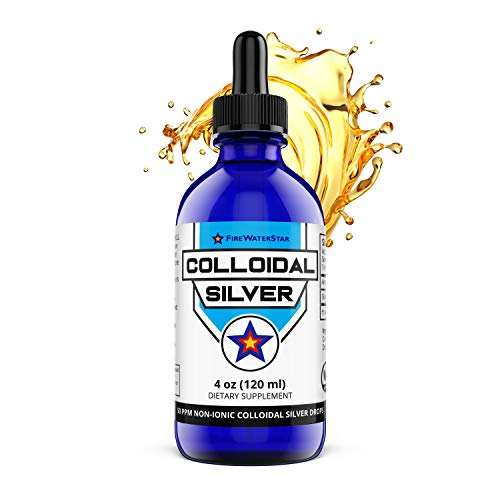 Colloidal Silver Liquid Drops - Non-Ionic Amber - 50ppm - 60 Servings (2 Month Supply) - Concentrated for Easy and Convenient Servings - Daily Immune System Support for Adults and Children