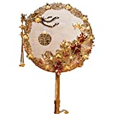 Plegables Abanico Ventilador Plegable, Ventilador de Mano, Abanico de Flores for Bodas Novia con Ramo Phoenix Golden Fan Abanicos Plegables a Mano