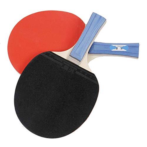 KUANDARPP Tischtennis-Set Tischtennisschläger Tischtennis Set, 2 Tischtennis-schläger Und 3 Tischtennis-bälle Konkav & Anatomisch Tischtennis-schläger Für Anfänger Eine Größe, Red
