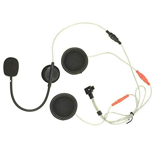 Midland Audio Kit per Interfoni Moto Midland della Serie BTX, 2 Cuffie Speaker e 2 Microfoni, Filo e Braccetto per Caschi Jet, Modulari o Integrali