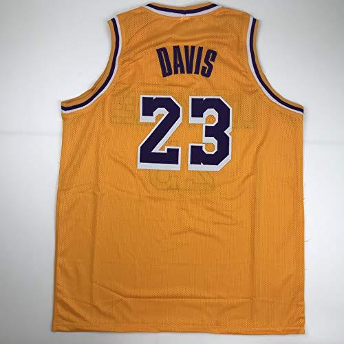 Unsigned Anthony Davis #23 Los Angeles LA Yellow Custom Stitched Basketball Jersey Size Men's XL New No Brands/Logos